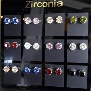Jewelry - Sparkly Zirconia Earring Set